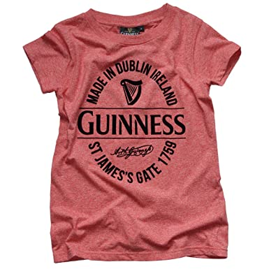 13dc5088 Guinness Ladies Red Stamp Dublin Ireland T-Shirt at Amazon Women's ...