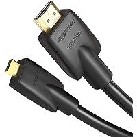 Amazon Basics Cable Adaptador Micro HDMI a HDMI (1.8 m, Alta Velocidad, estándar más Reciente, Paquete Individual, Color Negro)