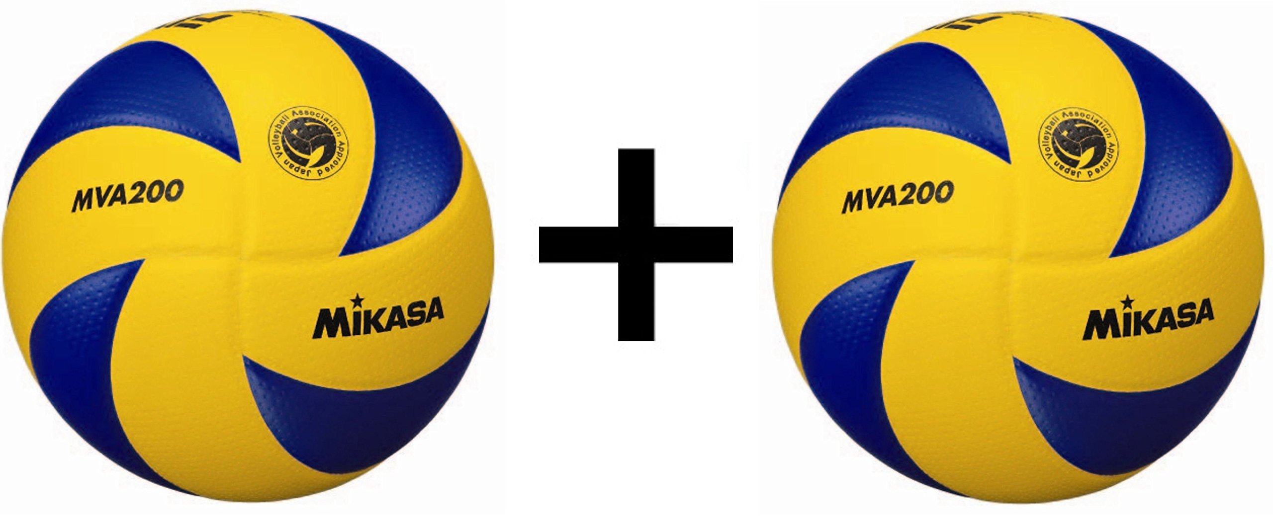 Mikasa FIVB Volleyball Official 2016 Olympic Game Ball Dimpled Surface (2-Pack)