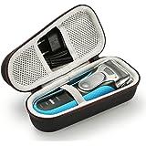 Estuche Rígido para Viaje de Viaje para Braun Series 3 Maquinilla Eléctrica para Hombre ProSkin 3040s (el Dispositivo y los Accesorios no Están incluidos) - Negro