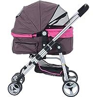 PawHut Four Wheel Cat/Dog Pet Stroller - Violet