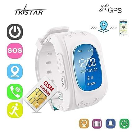 Rastreador Niños GPS Reloj Smartwatch Niños Relojes Inteligentes Niños Español Soporte GPS + LBS de Doble