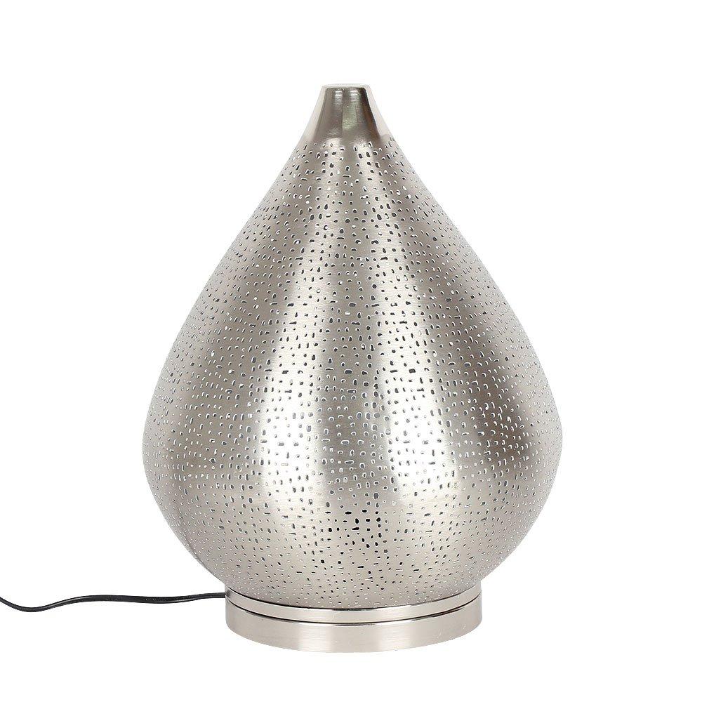 Albena shop 71-6340 Fare orientalische Tischlampe silber H 37cm   ø 28cm