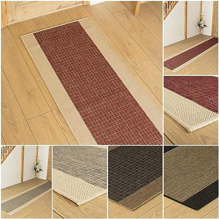 runrug® - Alfombra Jenga para el recibidor - En Cualquier tamaño - Negro, marrón, Rojo o Tweed: Amazon.es: Hogar