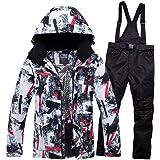 Amazon.com: Chaqueta de esquí y babero conjunto de traje de ...