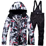 GS SNOWING Men's Winter Ski Suit Windproof Waterproof Snowboard Jacket and Pants