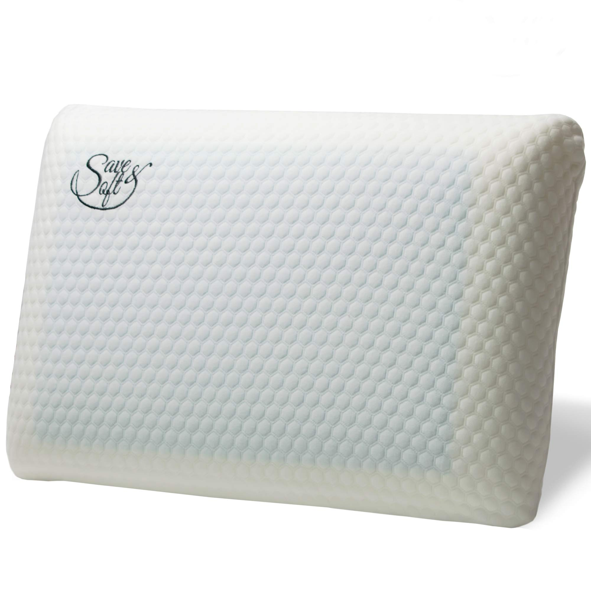 Orthopedic Memory Foam Pillow with Cooling gel - Comfortable Hypoallergenic Ergonomic Cervical Pillow with Optimum Neck Support Pain Relief - Removable Washable Cover (Gel Traditional, Standard)