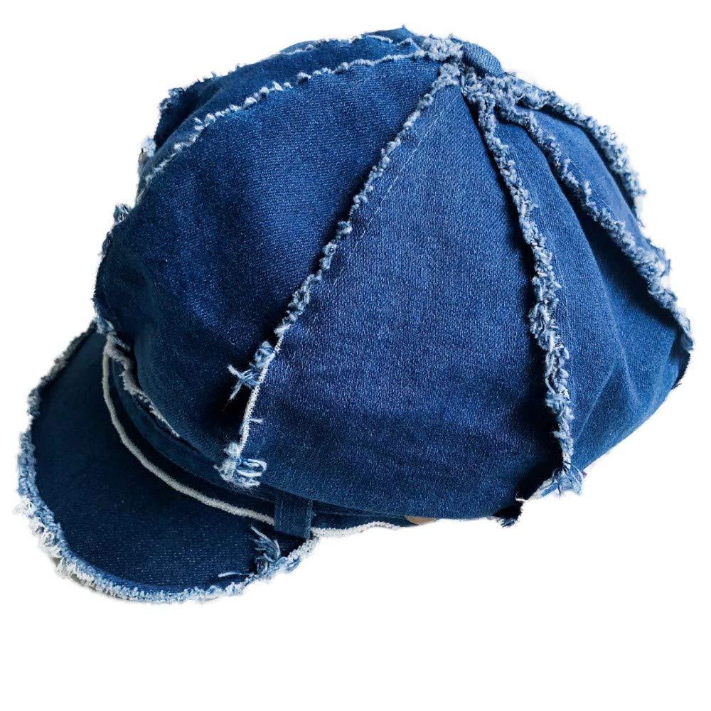 WGYXM Sombrero Azul M Hombres y Mujeres Vaquero Borde Crudo Borde Gorra de b/éisbol Boina Viaje al Aire Libre Bosquejo Pintor