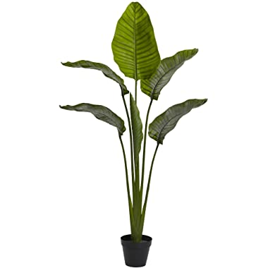 """Nearly Natural 63"""" Travelers Palm UV Resistant (Indoor/Outdoor) Silk Trees, Green"""