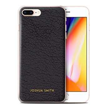 size 40 a912b 45b2b Personalised Custom Leather Effect Case for Apple iPhone 8 Plus / Olive  Black Stamp Design / Initial/Name/Text DIY Cover