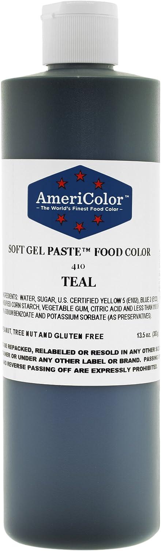 TEAL 13.5 Ounce Soft Gel Paste Food Color