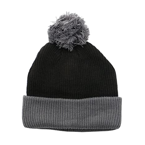 ad73424cab5 the Two Tone Thick Knitted Winter Pom Beanie JJ