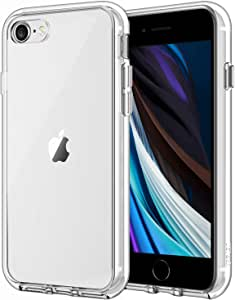 JETech Case for Apple iPhone SE 2020 2nd Generation, iPhone 8 and iPhone 7, 4.7-Inch, Shockproof Bumper Cover, Anti-Scratch Clear Back, HD Clear