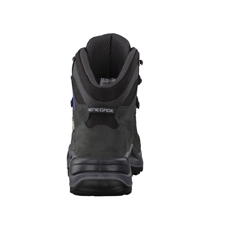 Lowa Renegade GTX Mid, Stivali da Escursionismo Alti Uomo, Nero (Anthrazit/Senf 9748), 46.5 EU