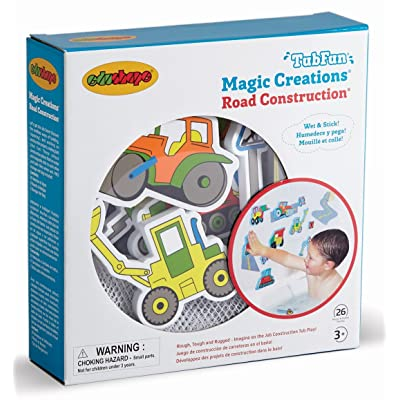 Edushape Magic Creations Bath Play Set, Construction Vehicles : Bathtub Toys : Baby