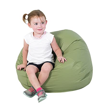 Marvelous Amazon Com Childrens Factory 26 Round Bean Bag Sage Alphanode Cool Chair Designs And Ideas Alphanodeonline