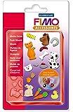"""Staedtler - Fimo Accessoires - Moule Flexible en Silicone 15 Motifs """"Animaux"""" 2 x 2 cm - Sous Blister"""