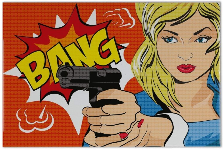 Piastrella divertente fumetto bang ceramica stampato 20x30 cm