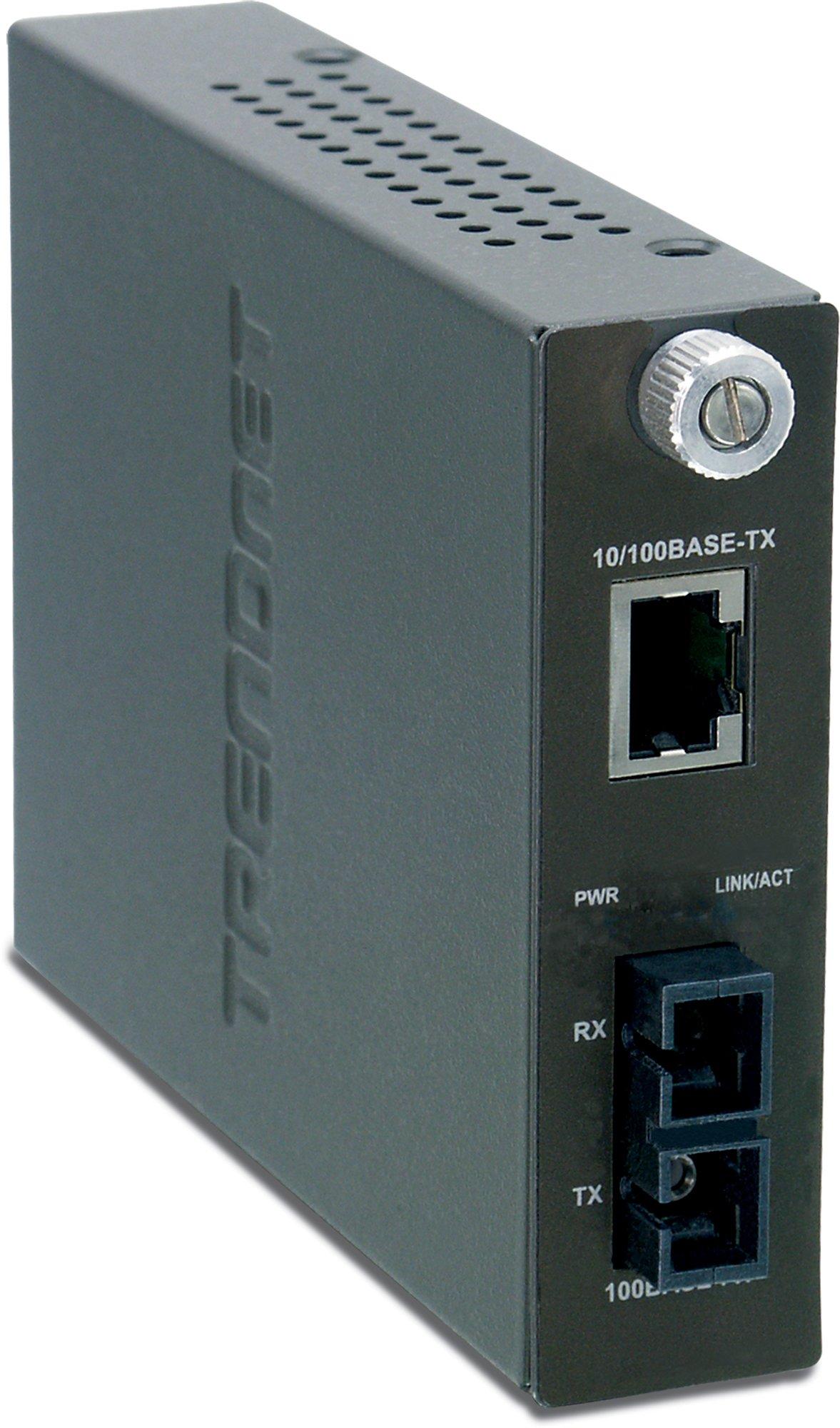 TRENDnet Intelligent 1000Base-T to 1000Base-FX Single Mode SC Fiber Converter (70 Km / 43.5 miles) TFC-1000S70