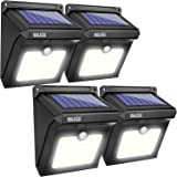 BAXiA Solar Lights Outdoor, 400LM LED Solar Powered Security Lights,Waterproof Wireless Solar Security Lights Motion Sensor for Outdoor Gate,Yard,Steps,Patio,Fence,Driveway, Garden (28LEDs,4 Packs)