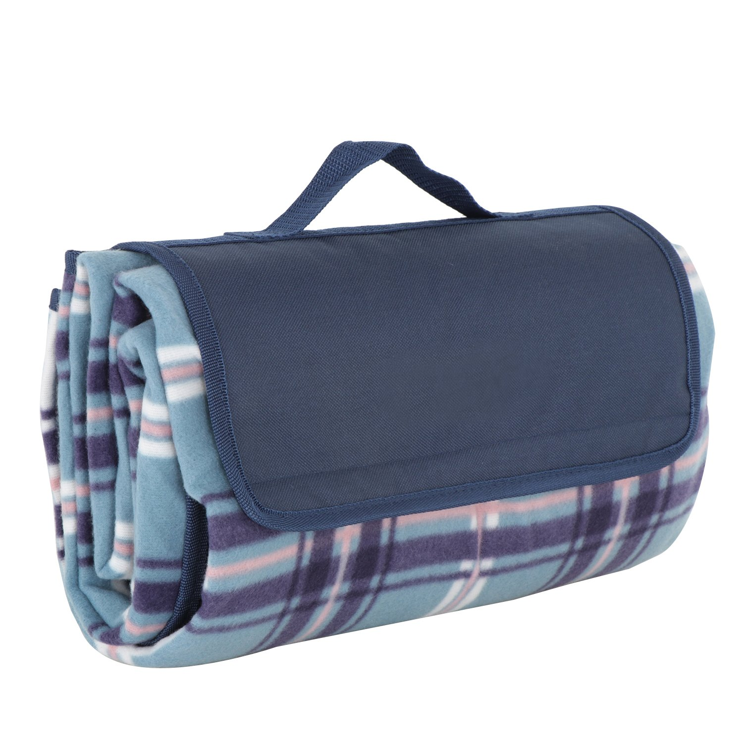 SUPER DEAL Water-Resistant Outdoor Picnic Blanket Tote Fold-Up Picnic Mat Pad for Outdoor Beach Hiking Grass Travel NaturalRays
