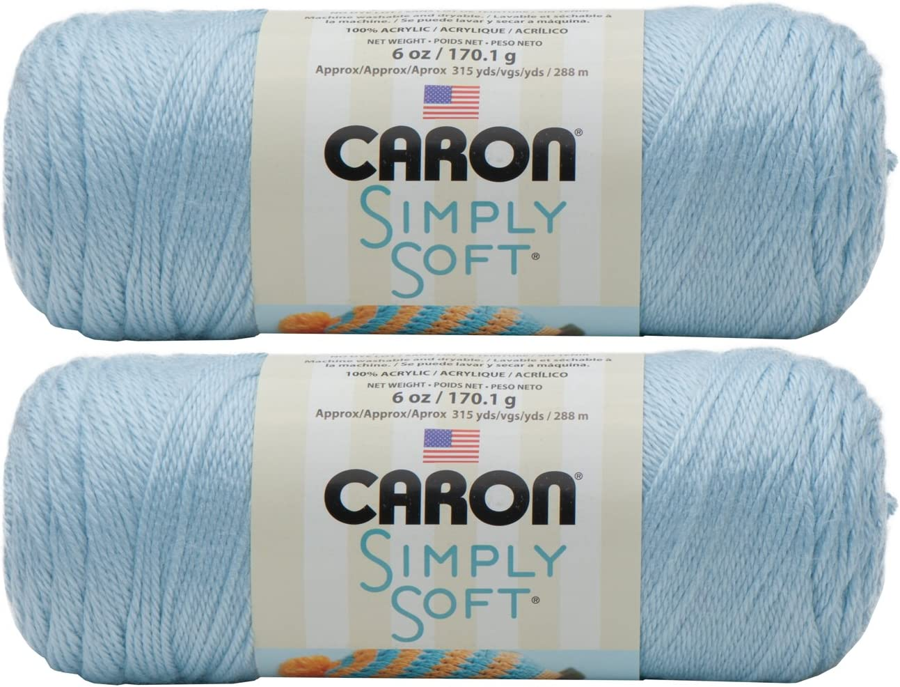 Caron Simply Soft Yarn Solids 2-pack Soft Pink Bulk Buy