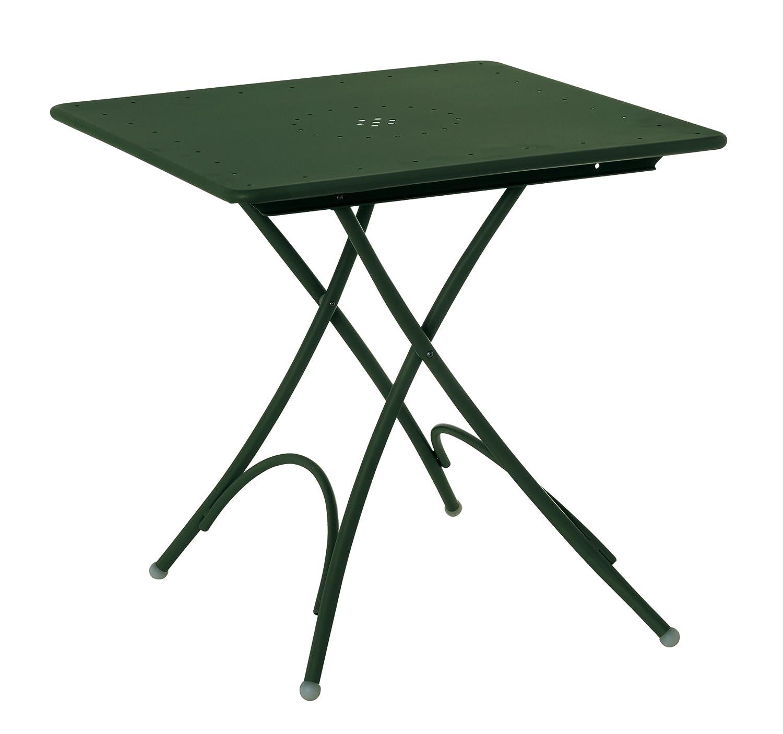 Emu 309078400N Pigalle Klapptisch 907, 76 x 76 cm, pulverbeschichteter Stahl, dunkelgrün