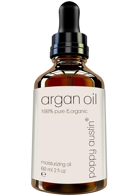 Aceite Puro de Argán para el cabello, la piel y el rostro, de Poppy Austin® - El más fino, 100% purificado, Tratamiento de aceite de argán marroquí ...