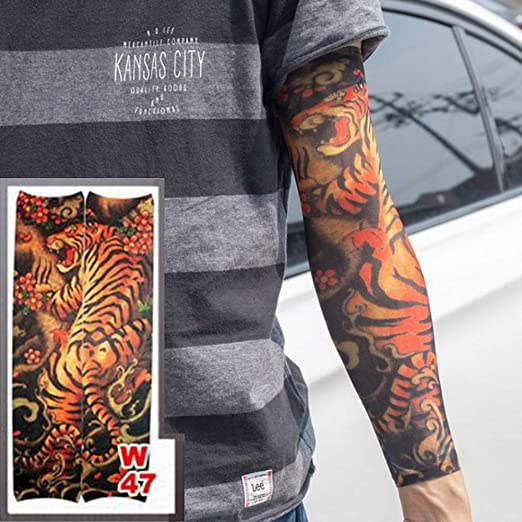 adgkitb 4 Piezas Falso Tatuaje Temporal Mangas Tatuajes Completo ...