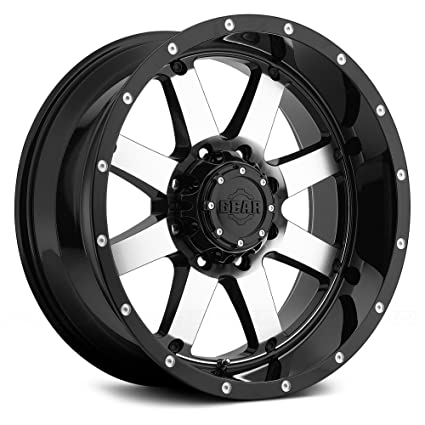Amazon Com Gear Alloy 726m Big Block Black With Machined Face And