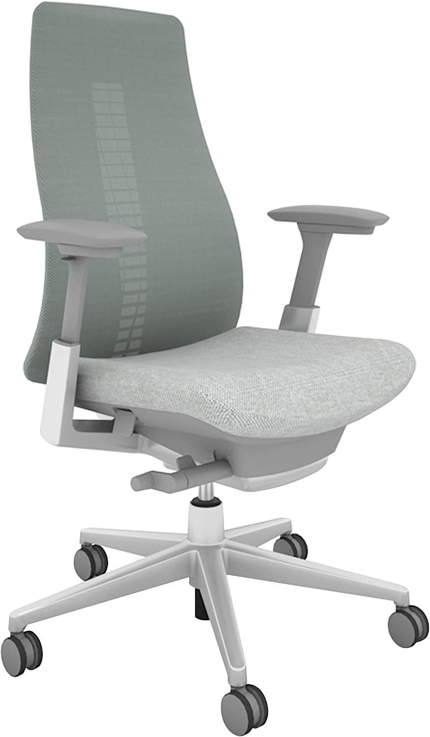 Haworth Fern High Performance Office Chair with Ergonomic Innovations and Flexible Mesh Back, Silver Leaf
