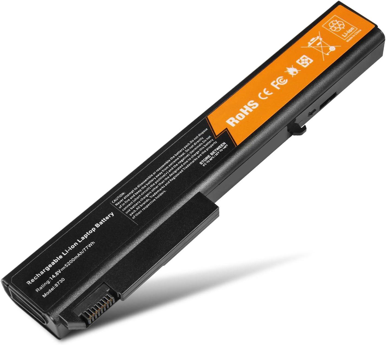8-Cell New Laptop Battery for HP EliteBook 8530p 8530w 8540p 8540w 8730p 8730w 8740w, ProBook 6545b. PN: 458274-421 484788-001 493976-001 501114-001 HSTNN-LB60 HSTNN-OB60 HSTNN-XB60 KU533AA AV08