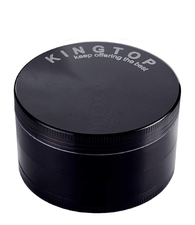 KINGTOP Herb Spice Grinder Large 3.0 Inch Black by KINGTOP