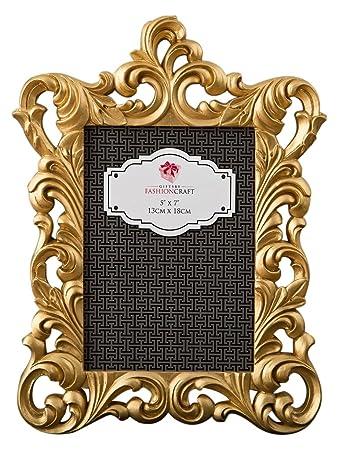 7797b11979b Amazon.com - Fashioncraft Gold Metallic Baroque Frame 5x7 from Gifts -