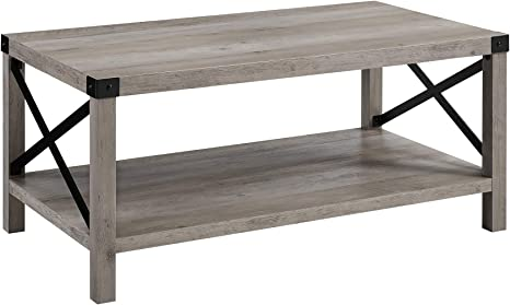 Eden Bridge Designs Coffee Table Rustic Cottage Country Farmhouse Rectangular Entryway Table Multi Functional Storage Bench Laminate Grey Wash One Size Amazon Co Uk Kitchen Home