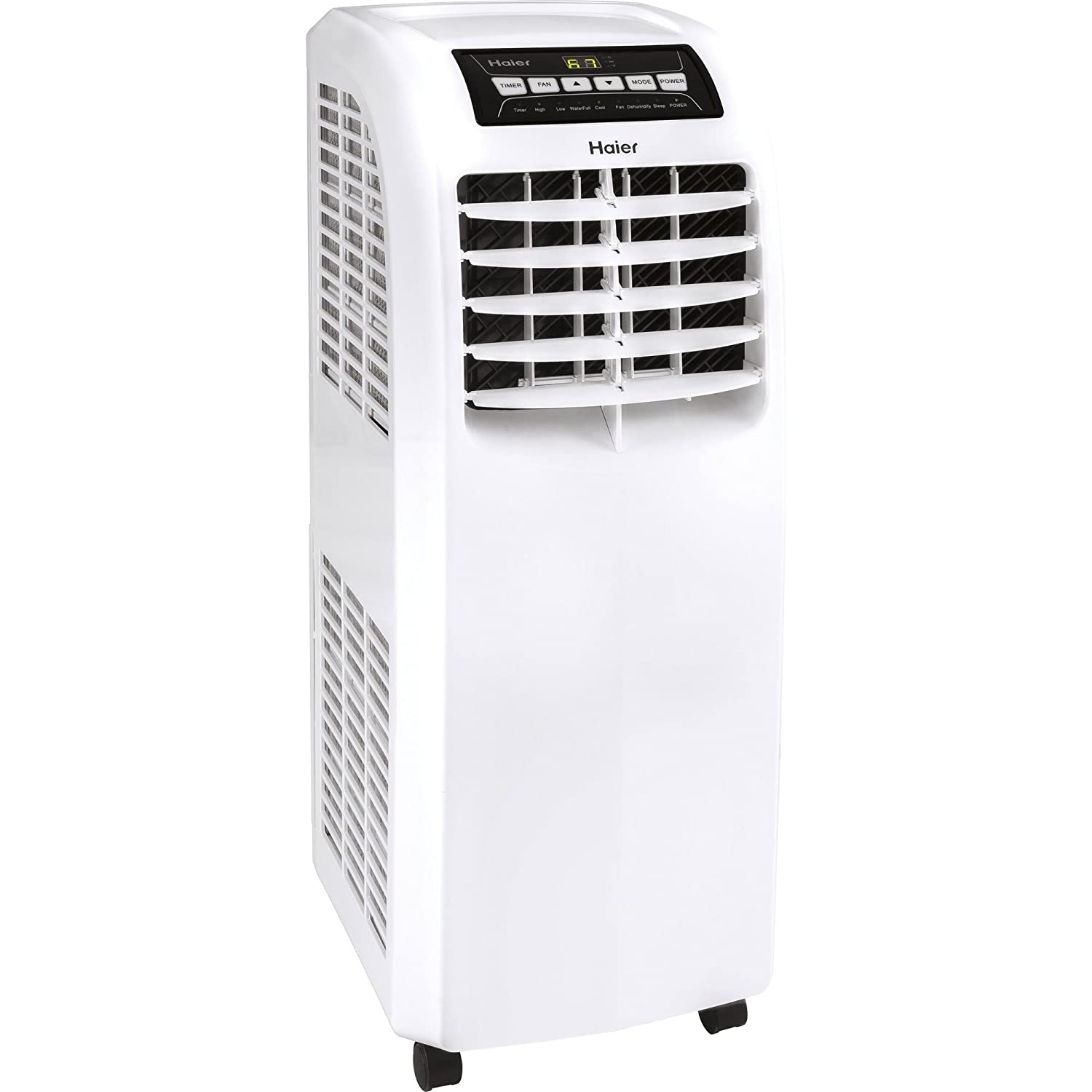 Haier QPCD05AXMW 2 Fan Sd Remote Control Portable Air Conditioner, on