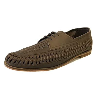 12008bcc45 Mens Gents Boys Brixton Bow Weave Slip On Tan Real Leather Suede Boat Shoes  Summer Casual