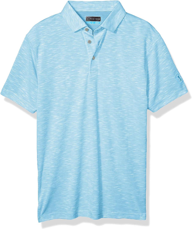 PGA TOUR Men's Big & Tall Short Sleeve Slub Polo Shirt