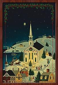 """Toland Home Garden 1110528 Christmas Town 12.5 x 18 Inch Decorative, Garden Flag-12.5"""" x 18"""""""