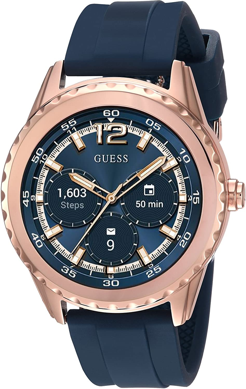 GUESS Womens Stainless Steel Android Wear Touch Screen Silicone ...