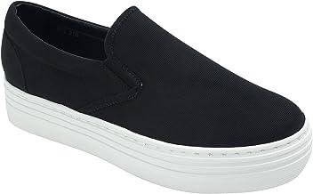 d1fce77afc AnnaKastle Sweet Holic Womens Casual Slip-Ons Platform Sneakers