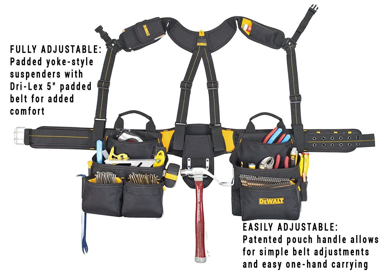 DEWALT DG5617 20-Pocket Pro Framer's Combo Apron Tool Belt and Yoke-style Suspenders by DEWALT (Image #2)