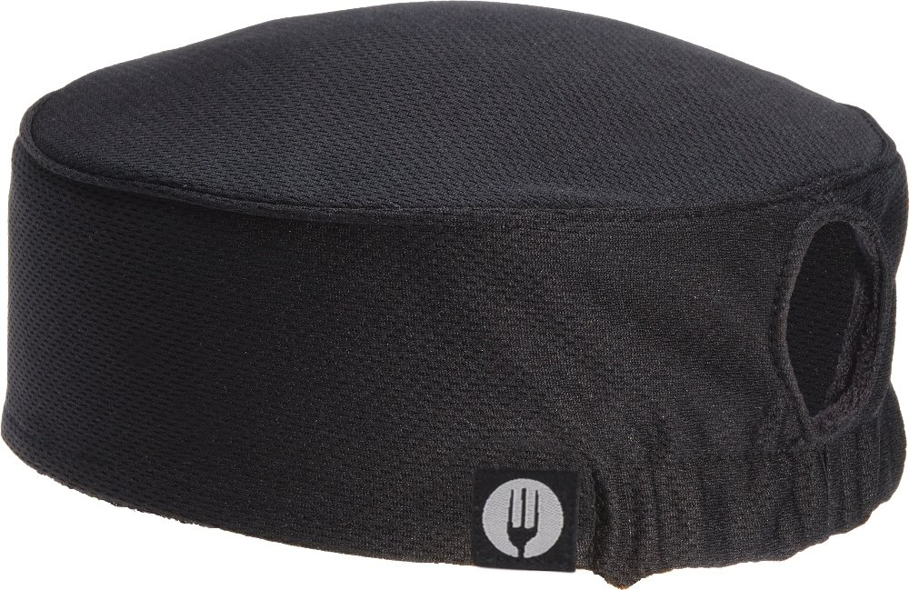 Chef Works Women's Total Vent Chef Beanie, Black, One Size