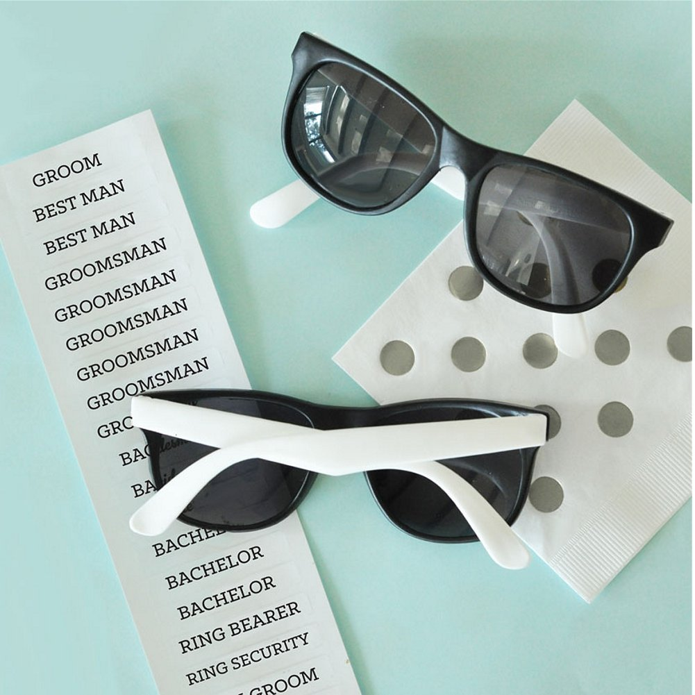 White Groom & Groomsman Sunglasses (set of 6) (1)