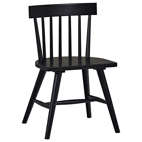 Stone Beam Classic Armless Dining Chair, 31 H, Set of 2, Black