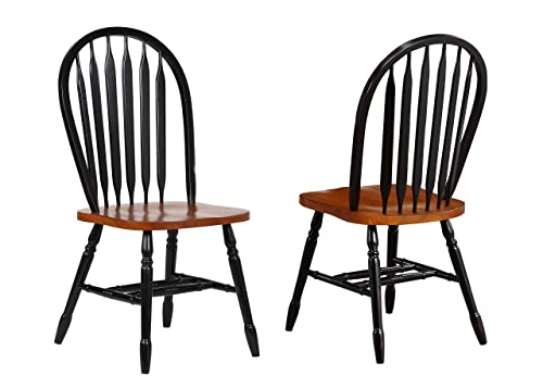 Sunset Trading Arrowback Dining Chair, Set of 2, 38 , Antique Black Cherry