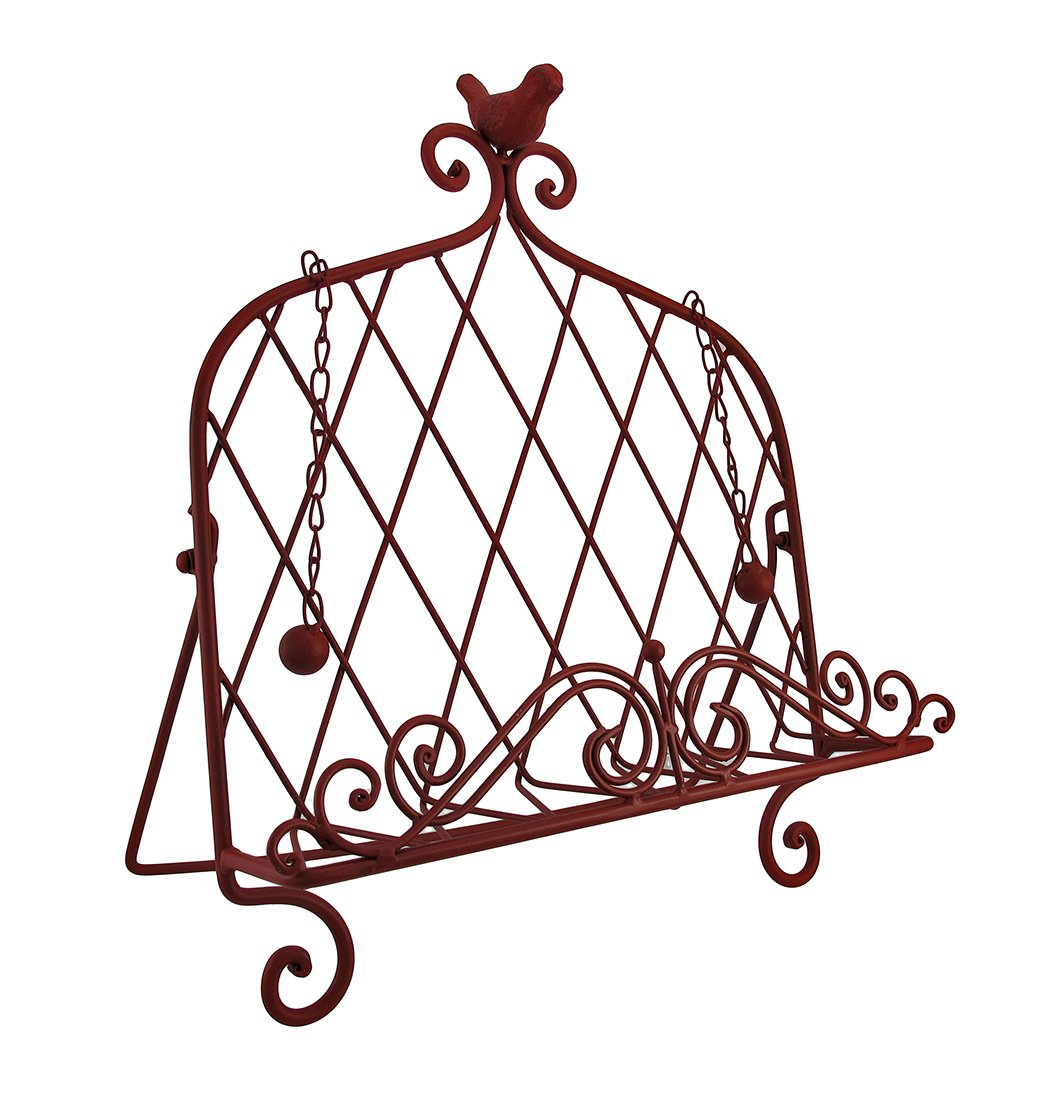 Decorative Red Bird Metal Cookbook Stand Book Holder Easel by Things2Die4