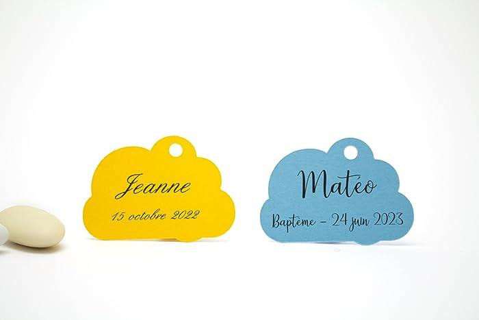 10 étiquettes Nuage Personnalisables Amazon Fr Handmade