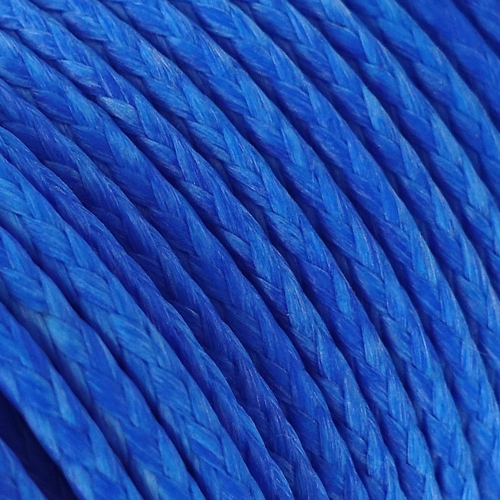 emma kites Blue UHMWPE Braided Cord High Strength Least Stretch Tent Tarp Rain Fly Guyline Hammock Ridgeline Suspension for Camping Hiking Backpacking Survival Recreational Marine Outdoors 100Ft 750Lb by emma kites (Image #2)