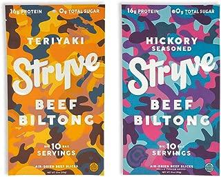 product image for Stryve Beef Biltong Teriyaki 10oz and Hickory Seasoned 10oz